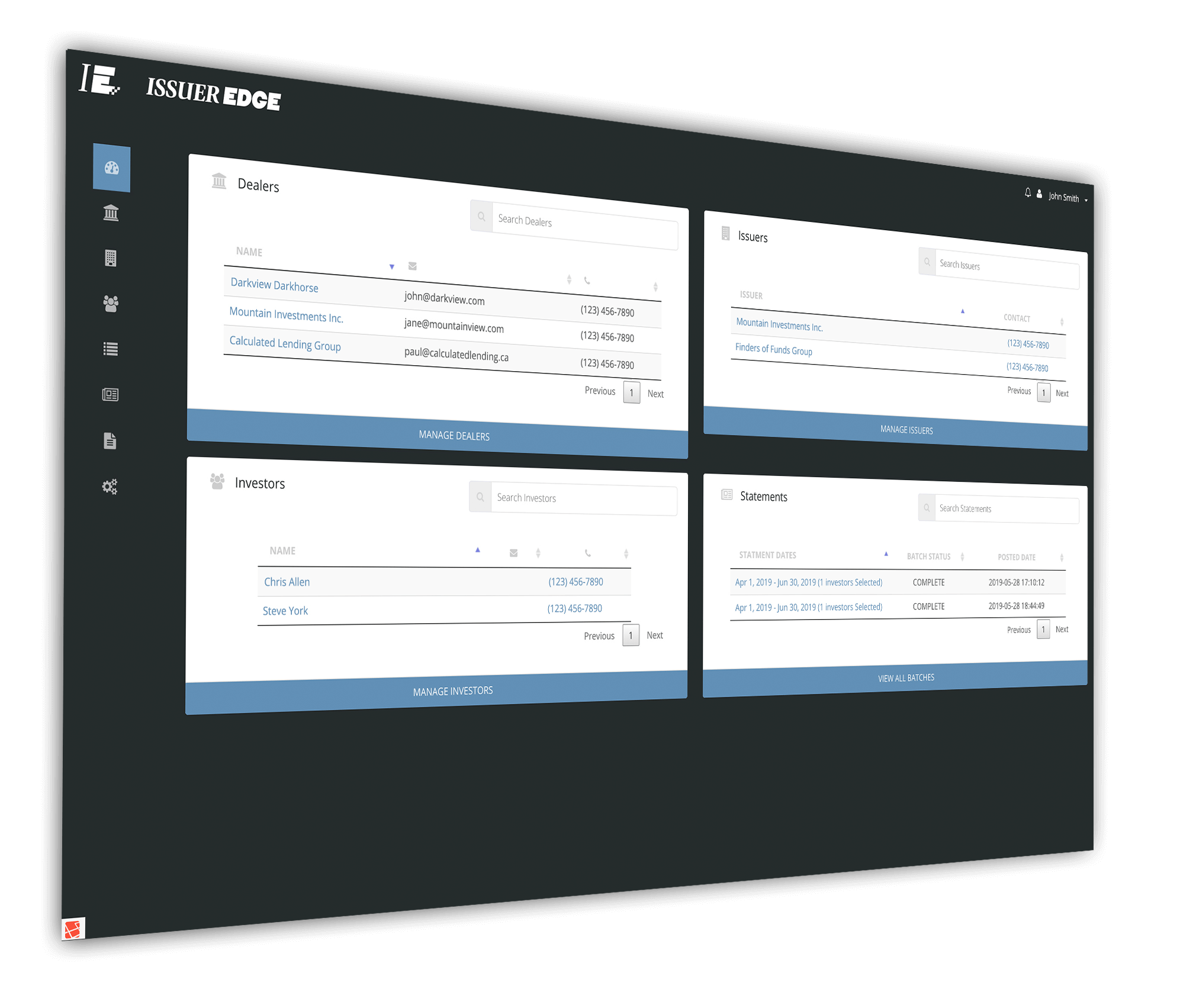 Issuer Edge product screenshot